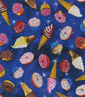Novelty Cotton Fabric-Donuts & Ice Creams in Space