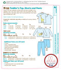 Kwik Sew Pattern K0133 Toddler Tops, Shorts & Pants