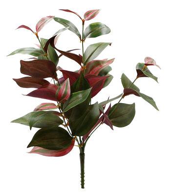 Fresh Picked Spring 11'' Wandering Leaf Bush-Pink & Green