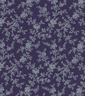 Quilter\u0027s Showcase Cotton Fabric 44\u0022-Grape Gray Floral Vines
