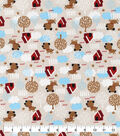 Snuggle Flannel Fabric-Woof Woof Dog Houses