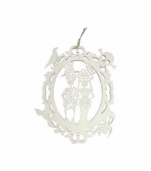 Maker's Halloween Craft Wooden Skeleton Bride & Groom Hanging