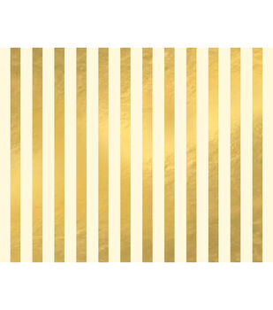 American Crafts We R Memory Keepers 22''x28'' Poster Board-Gold Stripes
