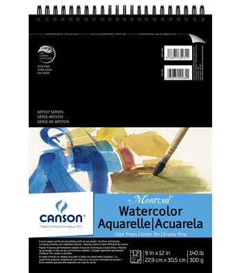 Canson Montval 9''x12'' Watercolor Double Wire Binded Paper Pad