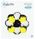 Crafty Chic 3\u0027\u0027x3\u0027\u0027 Reversible Sequin Flower Iron-on Applique