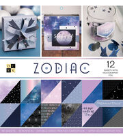 DCWV 36 Pack 12''x12'' Premium Stack Printed Cardstock-Zodiac, , hi-res
