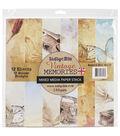 IndigoBlu Vintage Memories Paper Stack Cardstock 12\u0027\u0027x12\u0027\u0027