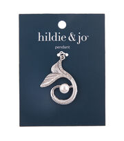 hildie & jo Zinc Alloy, Iron & Acrylic Beauty Tail Pendant-Silver, , hi-res