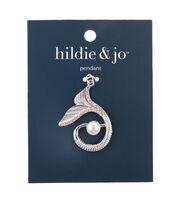 hildie & jo Zinc Alloy, Iron & Acrylic Beauty Tail Pendant-Silver, , hi-res