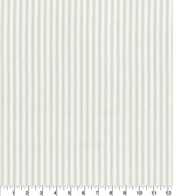 """Waverly Upholstery Fabric 13x13"""" Swatch-Classic Ticking Linen"""