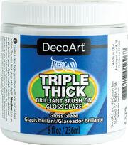 DecoArt Americana 8 fl. oz. Triple Thick Brilliant Brush-on Gloss Glaze, , hi-res