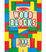 Melissa & Doug 100 pk Wood Blocks, , hi-res