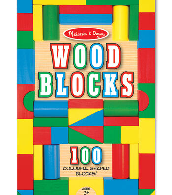 Melissa & Doug 100 pk Wood Blocks