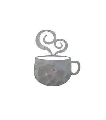 Hampton Art Galvanized Icon-Coffe Cup