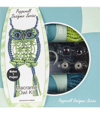 Pepperell Designer Macrame Owl Kit