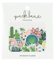 Park Lane Washi Flakes 48/Pkg-Greenery, , hi-res