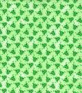 Novelty Cotton Fabric 44\u0022-Mini Frogs With Glitter