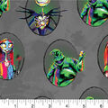 Nightmare Before Christmas Halloween Cotton Fabric-Badges