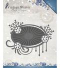 Find It Trading Amy Design Vintage Winter Die-Snowflake Swirl Label