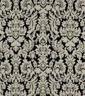 Home Decor 8\u0022x8\u0022 Fabric Swatch-Robert Allen Bhuj Damask Black White Fabric