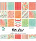 Colorbok Designer Single-Sided Paper 12\u0022X12\u0022-Mint Julep, 25 Designs