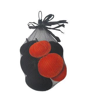Maker's Halloween 8 pk Velvet Pumpkins in Bag-Orange & Black