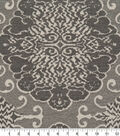 Robert Allen @ Home Upholstery Swatch 54\u0022-Grand Motif Greystone