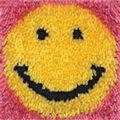 Wonderart Latch Hook Kit 8\u0022X8\u0022-Smile