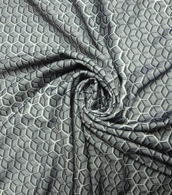 Yaya Han Cosplay Fabric 59''-Gray Hex Heroes  Print