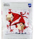 Vervaco Needlepoint Cushion Top Kit 16\u0022X16\u0022-Christmas Gnomes