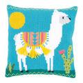 Vervaco Needlepoint Cushion Top Kit 16\u0027\u0027X16\u0027\u0027-Llama Stitched