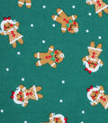 Holiday Showcase Christmas Cotton Fabric 43\u0027\u0027-Gingerbread on Green