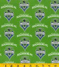 Seattle Sounders Cotton Fabric -Logo