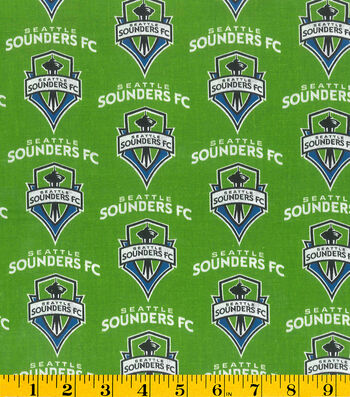 "Seattle Sounders Cotton Fabric 58""-Logo"