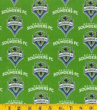 Seattle Sounders Cotton Fabric -Logo