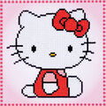 Vervaco 8.75\u0027\u0027x8.75\u0027\u0027 Diamond Art Kit-Hello Kitty
