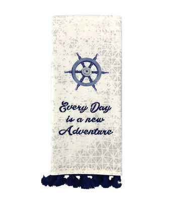 Indigo Mist Everyday is a New Adventure Towel