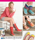 Simplicity Patterns Us1958A-Simplicity Create Fun& Funky Slippers Or Indoor Booties Wit-S-M-L