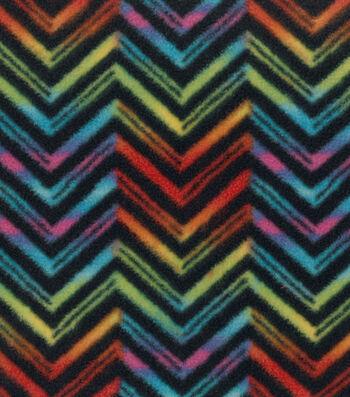 Latin Fabric- Indian Sunrise Chevron Multi Fleece