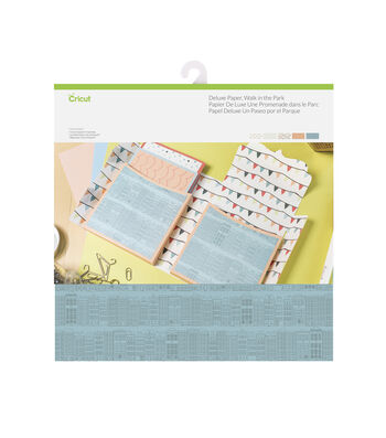 Cricut 10 Pack 12''x12'' Deluxe Papers-Walk In The Park