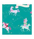 American Crafts Bleach Gift Wrap 30\u0022X10ft-Santa Unicorn-Gold Foil