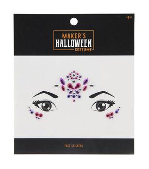 Maker's Halloween Costume Face Stickers-Princess Jewels