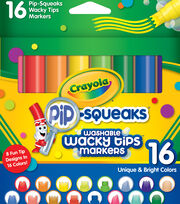 Crayola Pip-Squeaks Washable Wacky Tip Markers-16PK, , hi-res