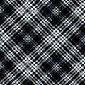Nursery Flannel Fabric-Black & White Logan Plaid