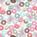 Super Snuggle Flannel Fabric-Donuts And Coffee