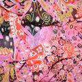 Fast Fashion Yoryu Chiffon Fabric-Begonia Butterflies