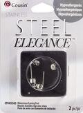 2 Piece Rhinestone Earring Post Stainless Steel