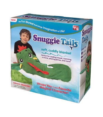 As Seen on TV Snuggie Tails-Green Dragon