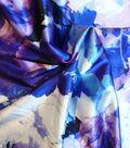 Casa Embellish Spring Stretch Satin Fabric 54\u0022-Dazzling Blue Flora