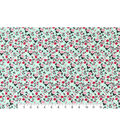 Snuggle Flannel Fabric -Ditzy Floral on Mint